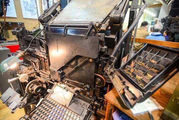 Linotype machine.