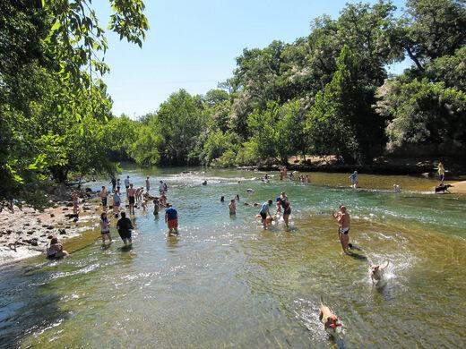 Barton Springs: Downstream.