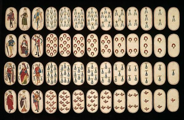 Flemish Hunting Deck: the oldest complete playing card deck.