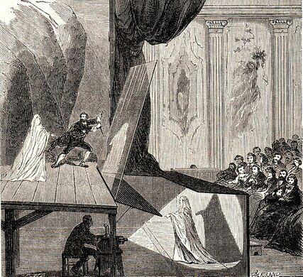 Pepper's Ghost used on stage in 1862.