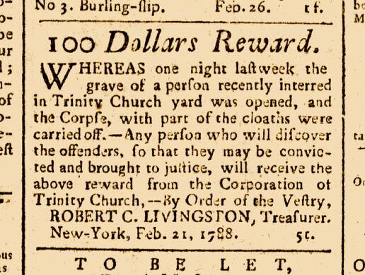 1788 NY Daily Advertiser.