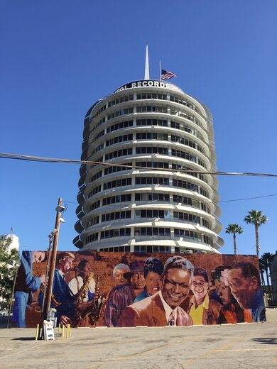 Capitol Records and Mural.