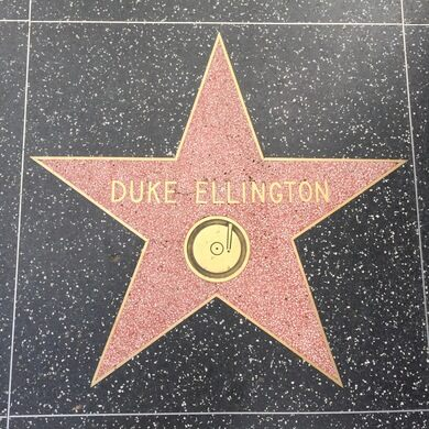 Duke Ellington's Star on Walk of Fame.