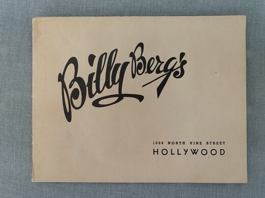 Promo for Billy Berg's.