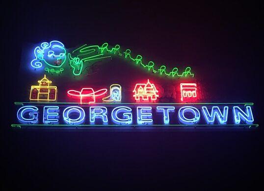 Georgetown sign by Kathryn Rathke.