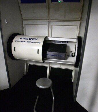 Airlock in simulator.