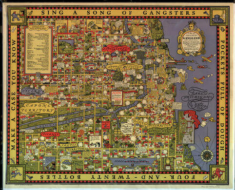 Chicago Gangland map.