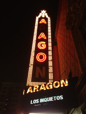 The marquee for the Aragon Ballroom.