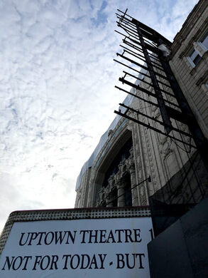 The Uptown Theatre, one of the world's largest movie palaces.