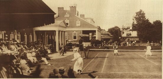 Philadelphia Cricket Club with people playing tennis,1913.