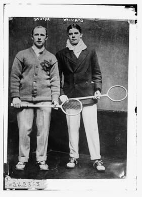 Jock Soutar of the Philadelphia Racquet and Tennis Club and Charles Williams of the Harrow School.
