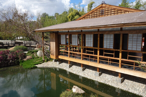 Shoin Building on the water.