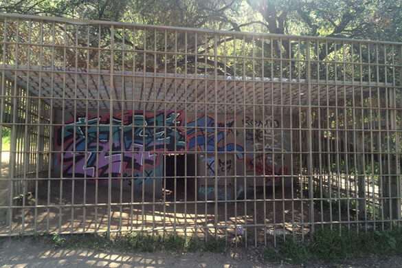 A cage from long ago.