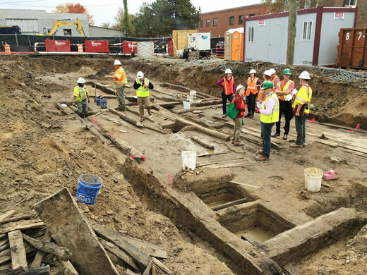 Excavation of the 1755 Town Warehouse.