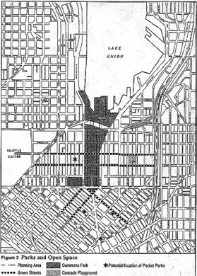Map from Seattle Commons proposal.