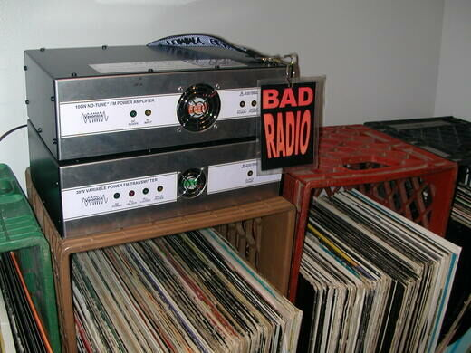WBAD amplifier and records.