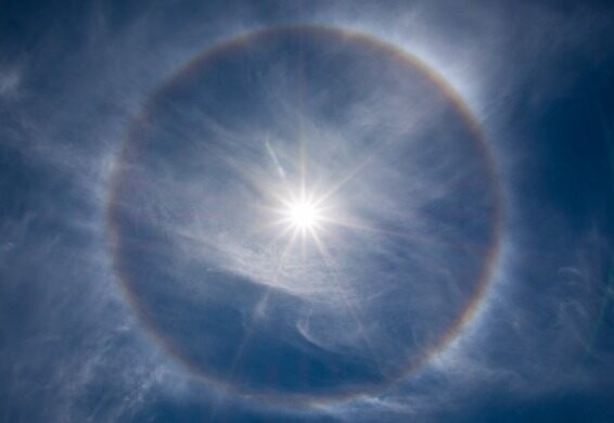 A halo in the sky