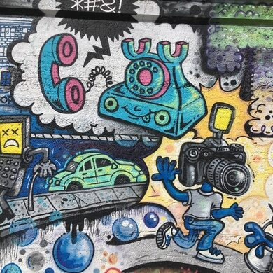 Graffiti Garden Telephone