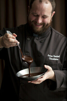 Chocolatier Aaron Barthel.