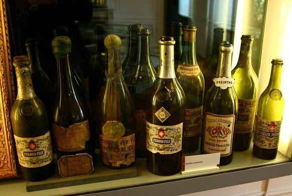 Bottles of absinthe.