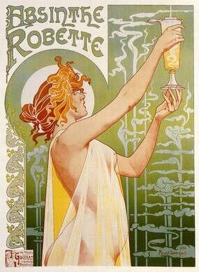 1896 advertisement for Absinthe Robette.
