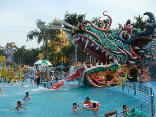 Dragon waterslide.