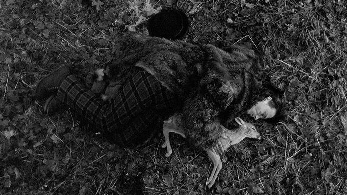 Depp and a deer in Dead Man.