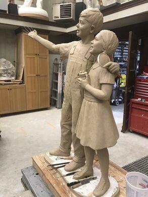 Carpenter's work in clay.