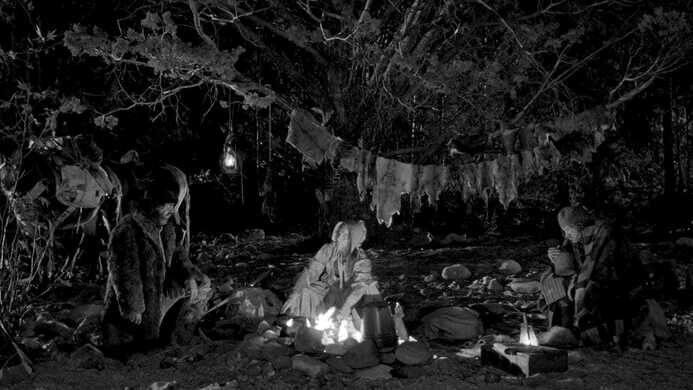 Around the campfire in Dead Man.