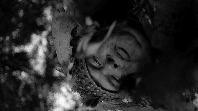 """Gary Farmer as """"Nobody"""" in Dead Man."""