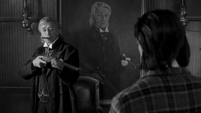 Robert Mitchum in Dead Man.