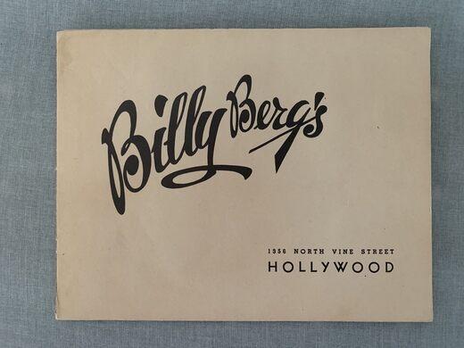 Promo for Billy Berg's.