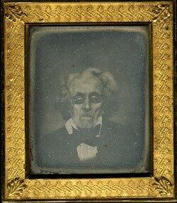Daguerreotype portrait of Stephen Du Ponceau.