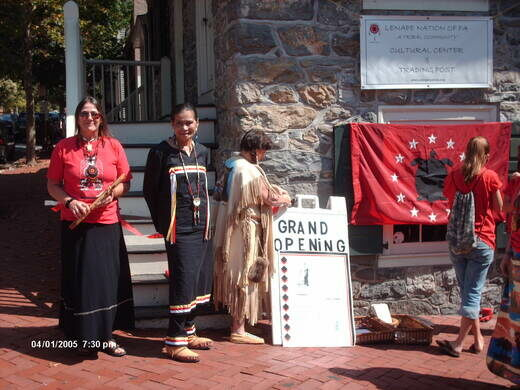 Council members of the Lenape Nation of Pennsylvania at the opening of the Cultural Center in 2005.