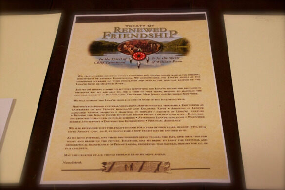 The Treaty of Renewed Friendship: a symbolic treaty between the Lenape Nation of Pennsylvania and other organizations, institutions, and individuals dedicated to environmental protection & preservation.