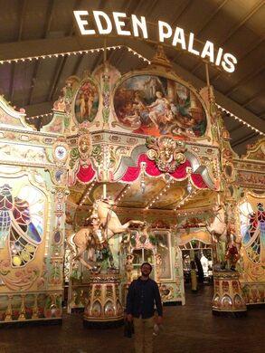 The entrance to the Eden Palais carousel.