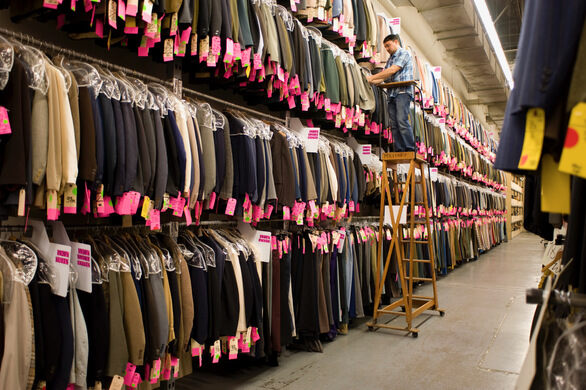Searching for the perfect jacket.