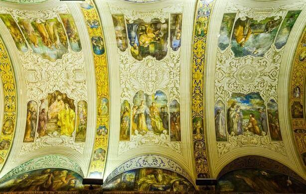 Main Corridor ceiling paintings.