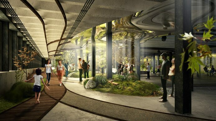Rendering of the Lowline.