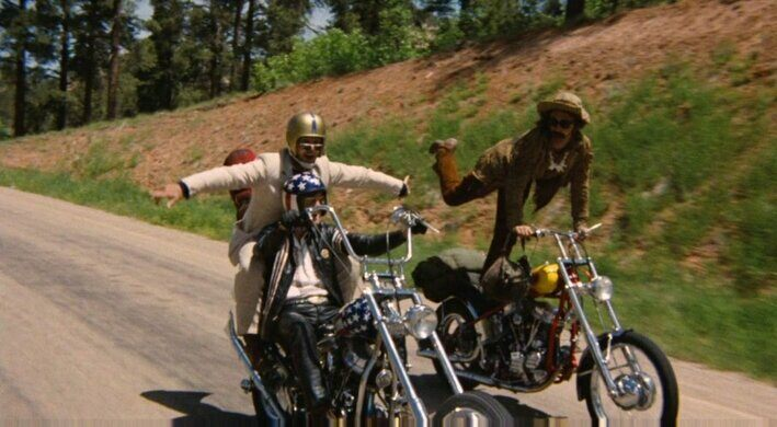 Bike tricks in 'Easy Rider.'