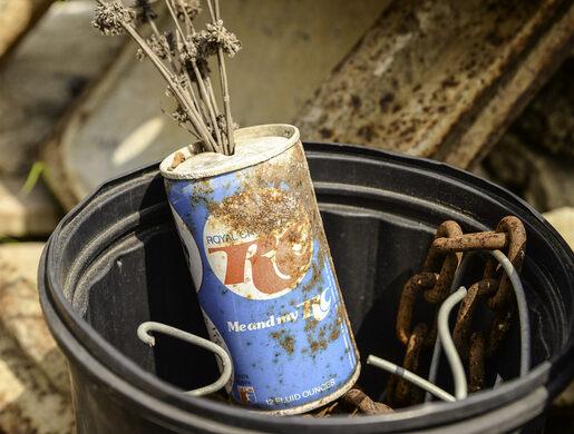 A long forgotten soda can.