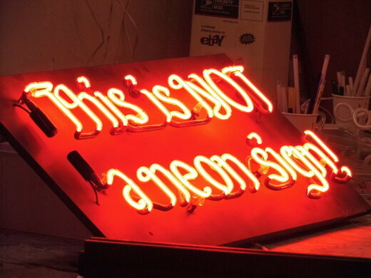This is not a neon sign.