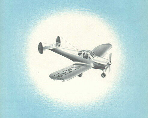 A postcard featuring an Ercoupe.