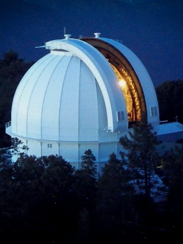 View of the 100-inch telescope from the Solar Tower Current Towercam.