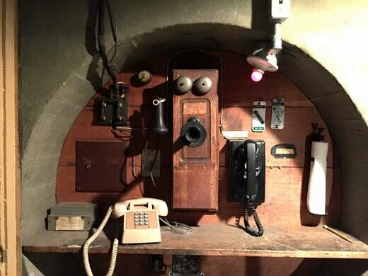 Historic telephone at the 100-inch telescope.