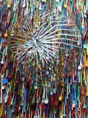 Sculpture of swizzles.