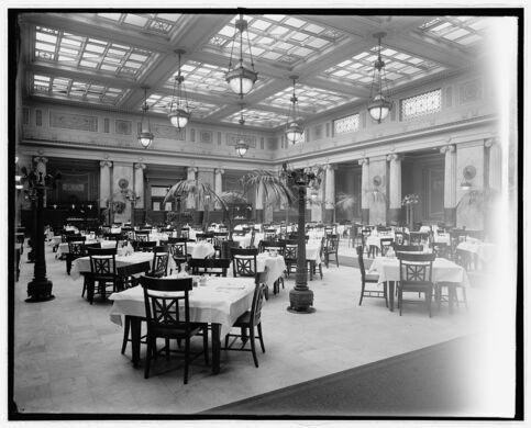 The Dining Room, circa 1921.