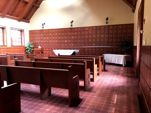 The chapel during the day.