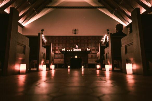 The Chapel at night.