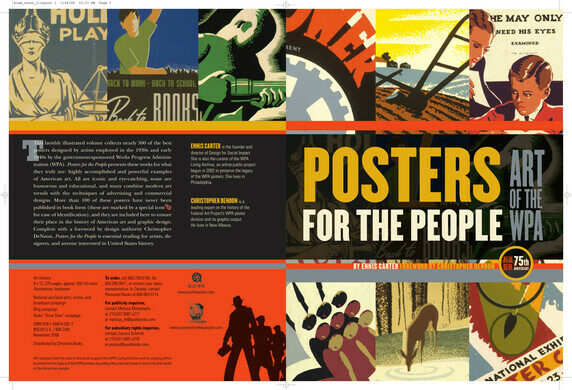 'Posters for the People' book cover.